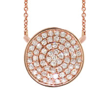 0.17ct 14k Rose Gold Diamond Pave Necklace