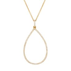 0.27ct 14k Yellow Gold Diamond Pendant
