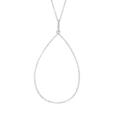 0.44ct 14k White Gold Diamond Pendant