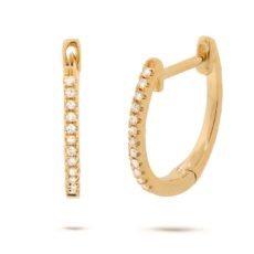 0.08ct 14k Yellow Gold Diamond Huggie Earring
