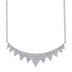 0.45ct 14k White Gold Diamond Necklace