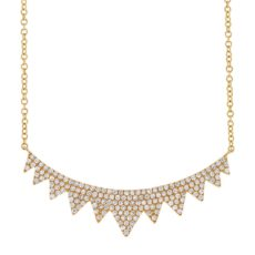 0.45ct 14k Yellow Gold Diamond Necklace