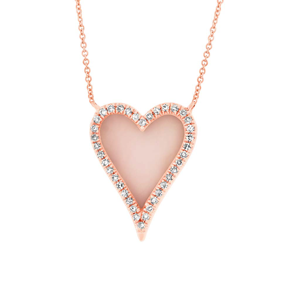 The Pink Opal Heart Necklace in rose gold - KVO Collections   KVO ... d27339582